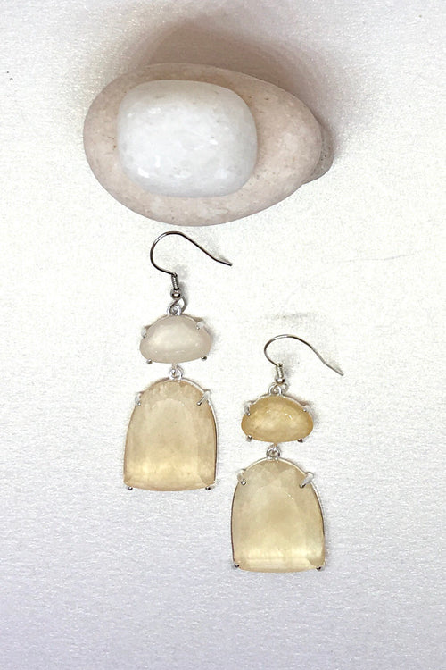 Earrings Rock Opera Champagne Colour
