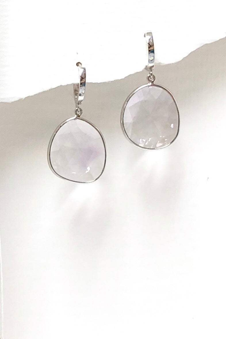 Earrings Trina in Silver with Pale Amethyst