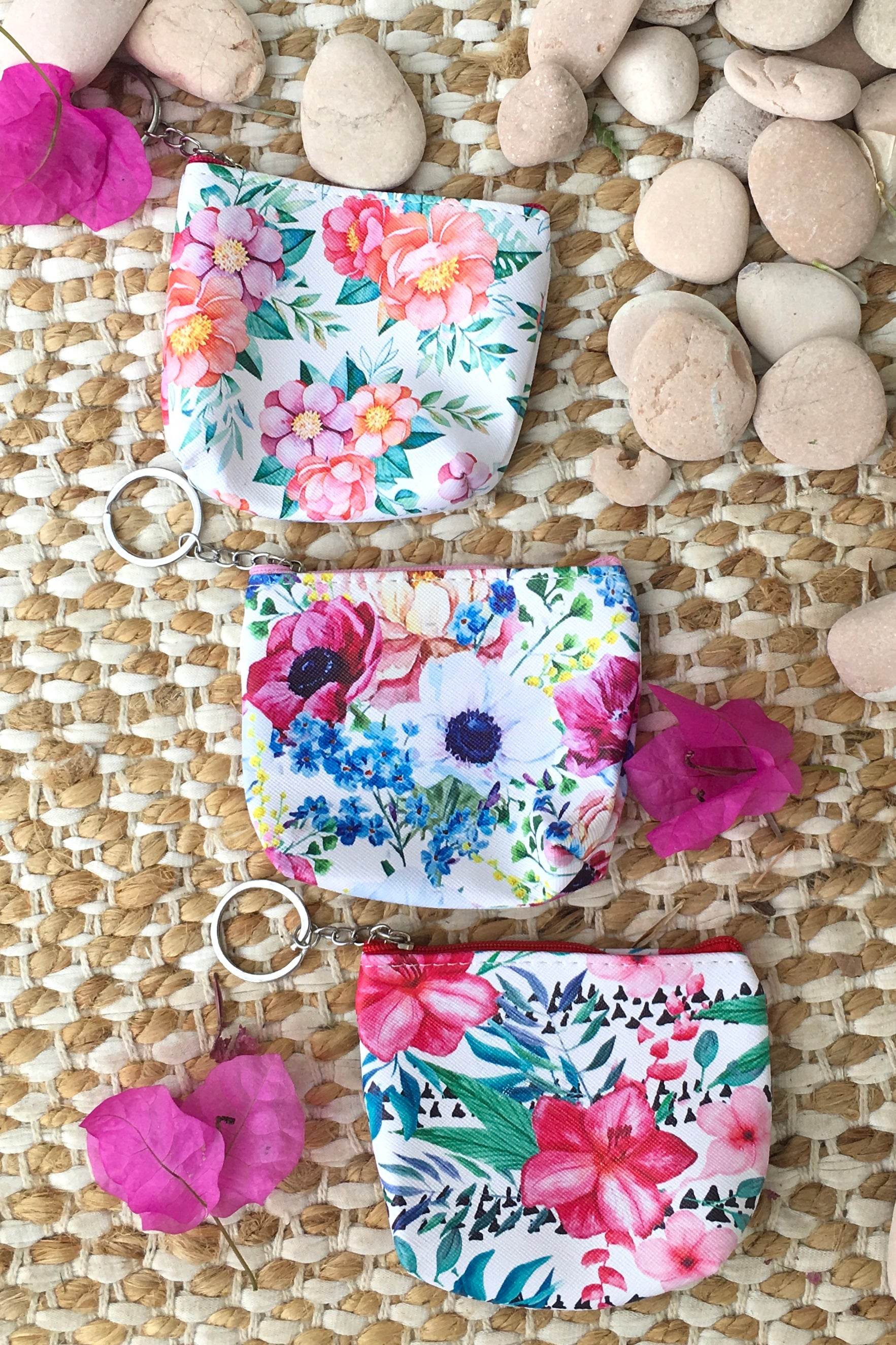 Yeah Mini Coin Purse Bright Flowers, useful floral coin purse