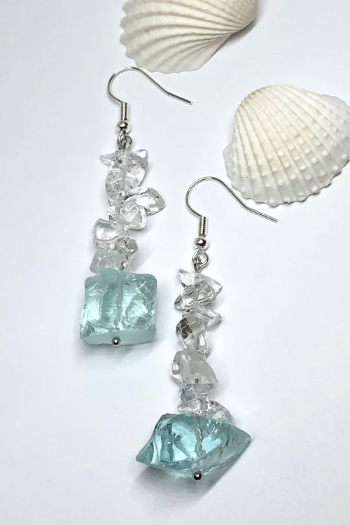 Earrings Serendipity Icey Aqua Rock
