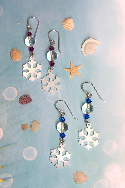 Earrings Serendipity Snowflake Shell