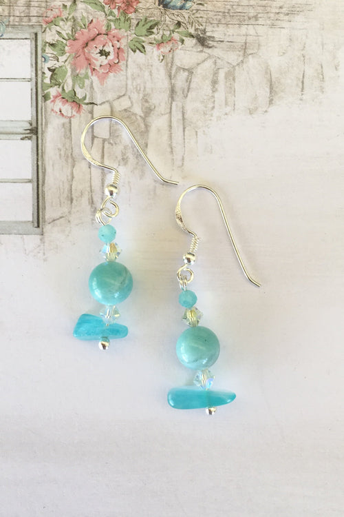 Earring Samara Gemdrops in Amazonite