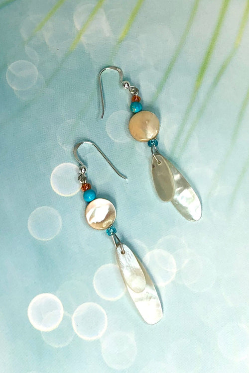 Earrings Cay Antika Blue