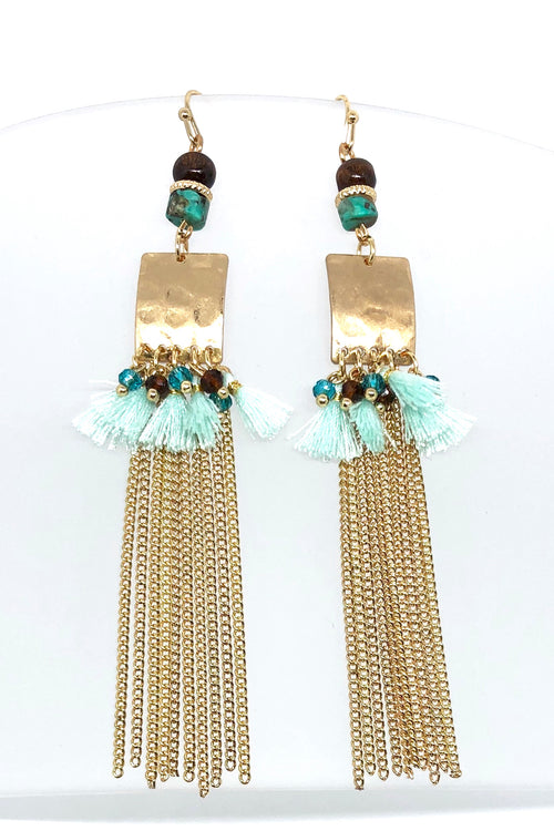 Earrings Meta Chain Tassel