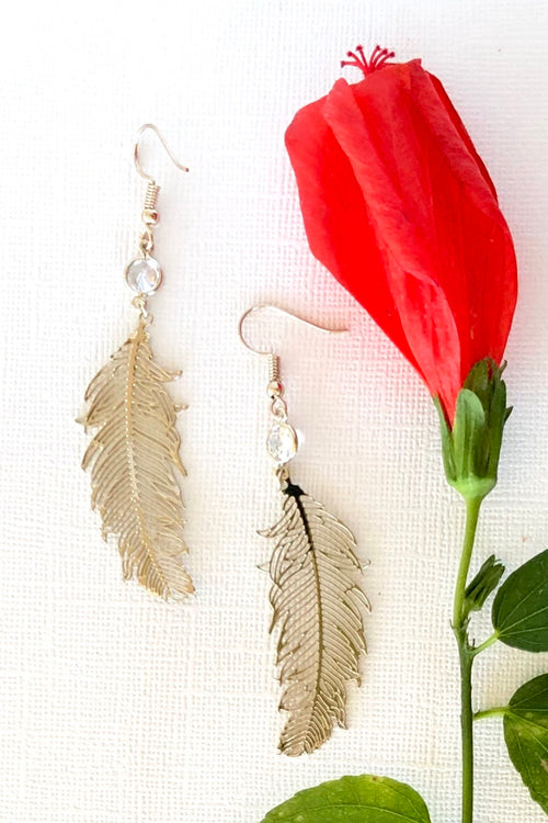 Earrings Falling Feathers
