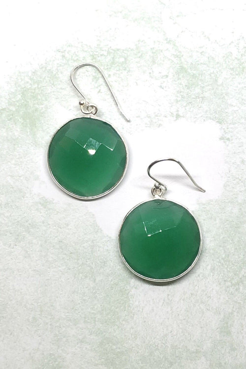 Oracle Earrings Green Circle