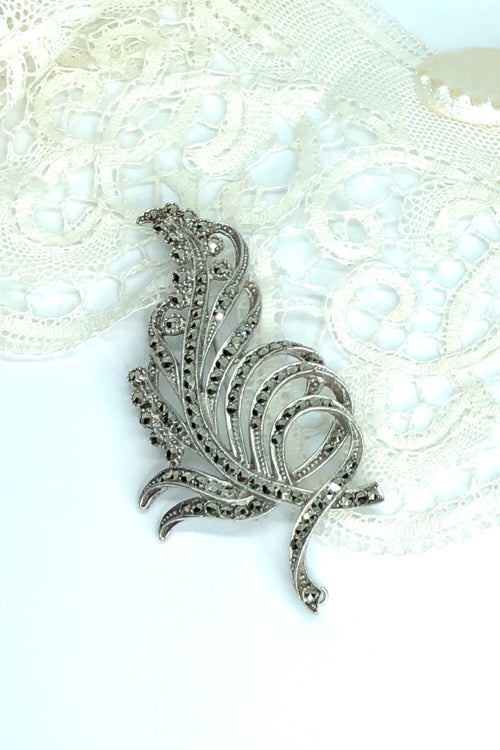Echo Brooch Marcasite Spray
