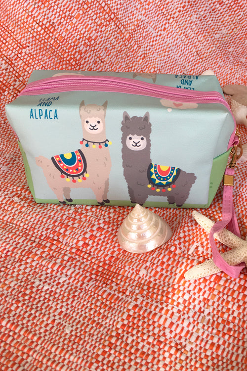 Yeah Cosmetic Purse Two Alpacas
