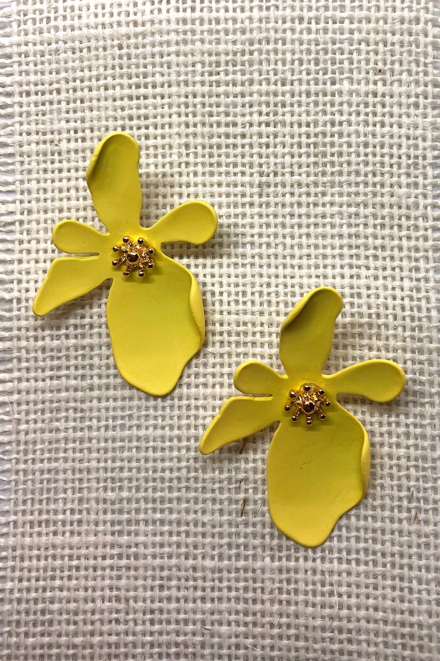 Earrings Dali Flower Yellow