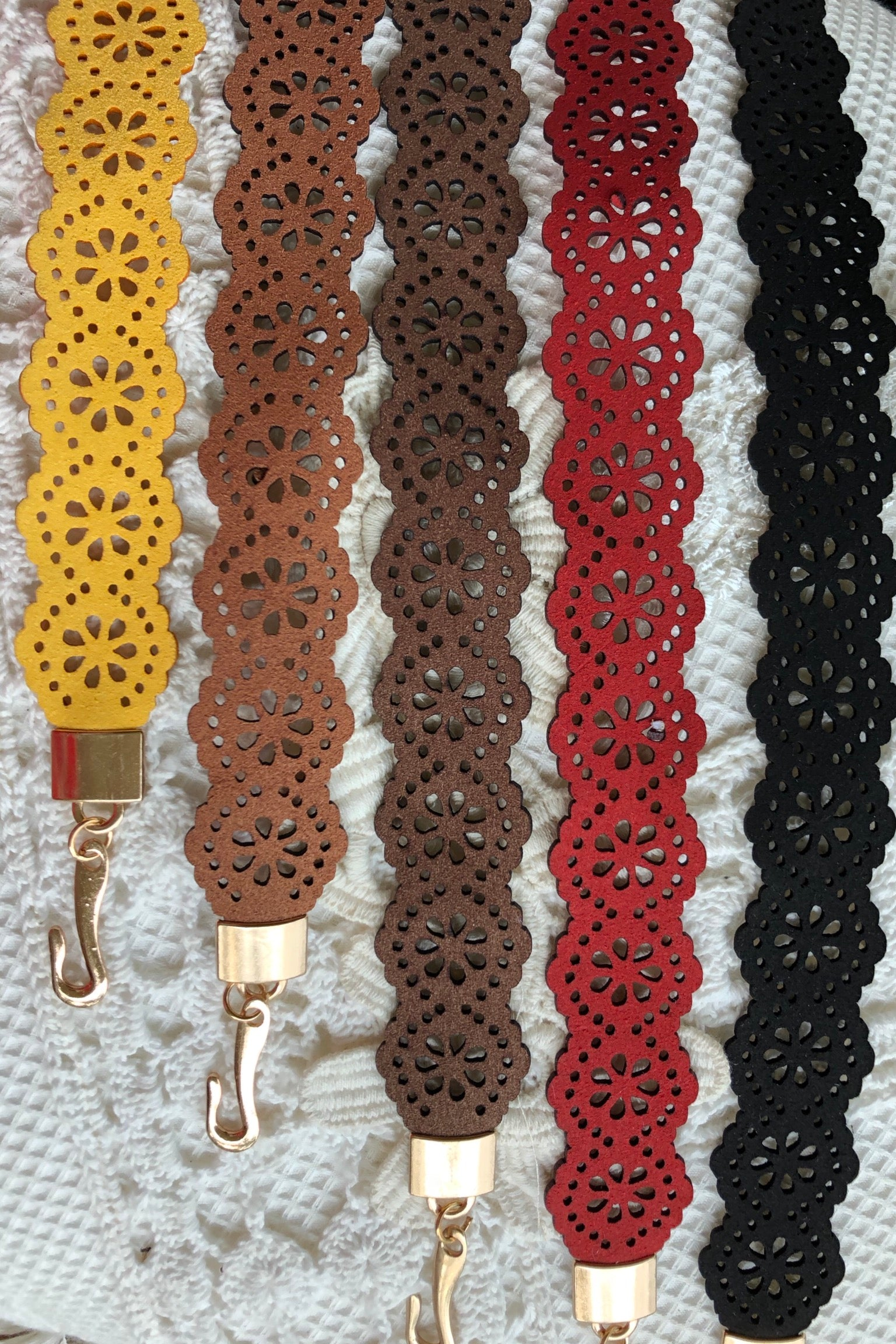 Belt Perferato with Chain Fastener, narrow adjustable belt