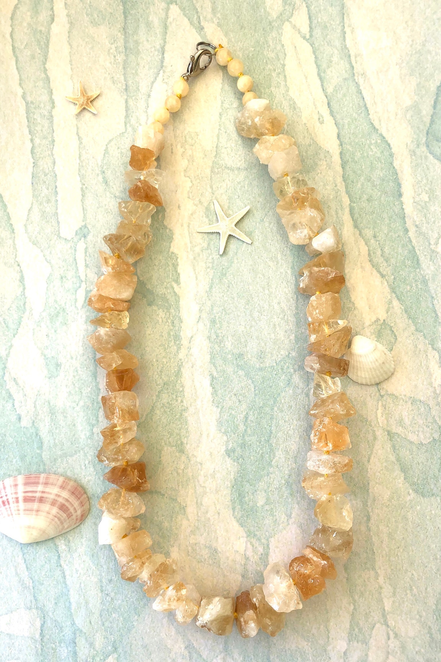 Necklace Rock Opera Citrine