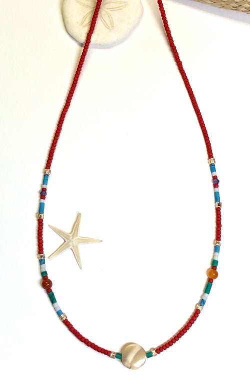 Necklace Cay Island Red