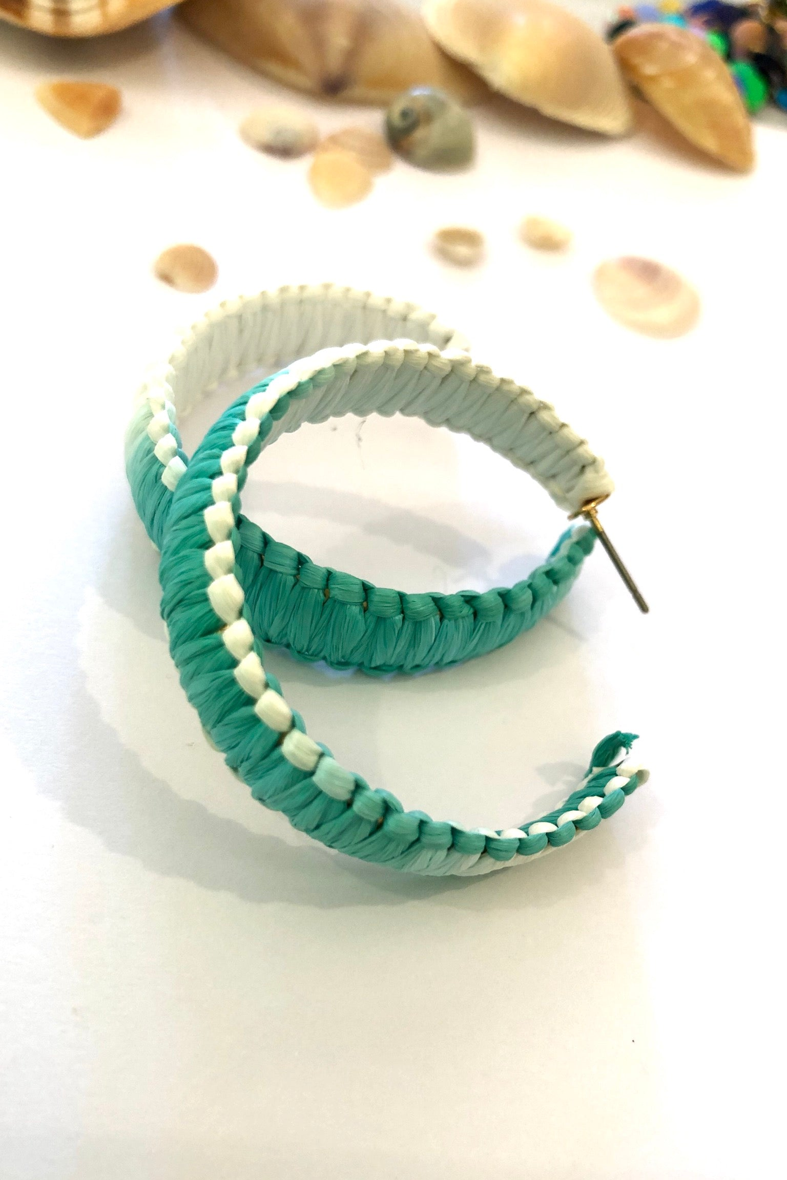 Earring Hoop Sea Teal