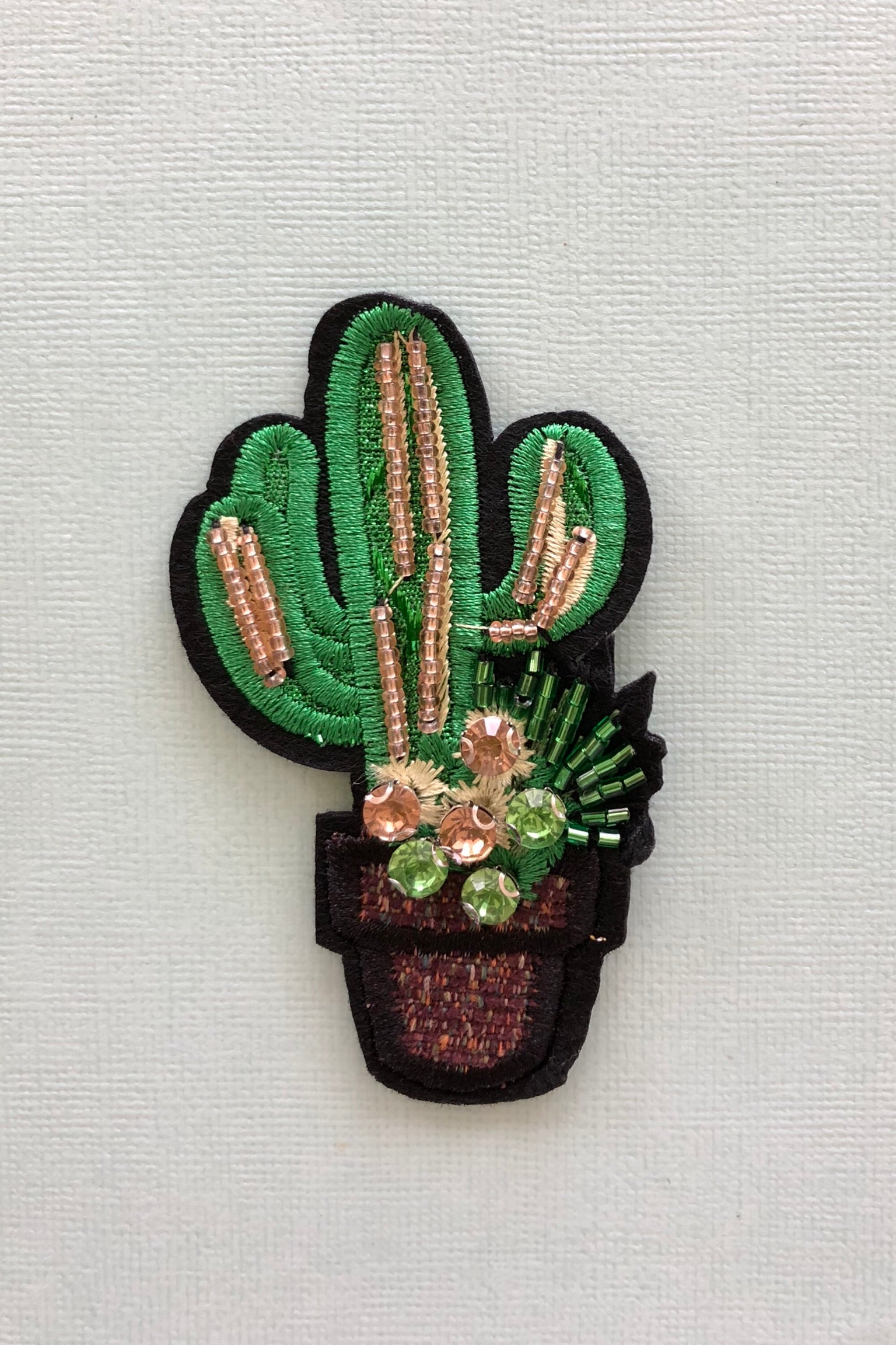 Iron on Motif Cactus Motif, cute cactus patch for jeans decoration
