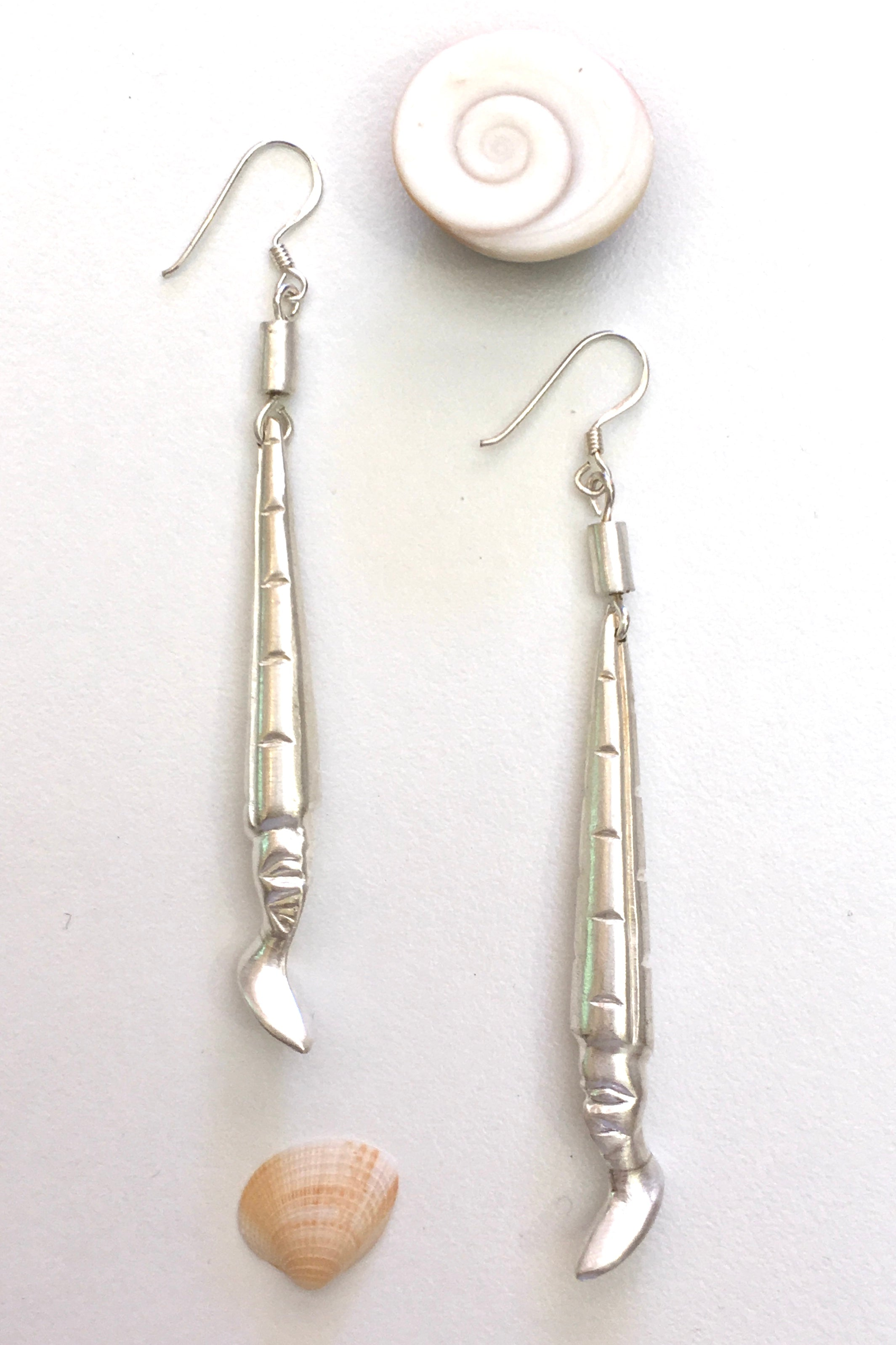 Silver African Face Earrings, 925 Silver Brushed Satin Finish Earrings