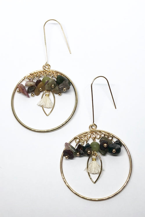 Earrings Meta Tourmaline Gypsy