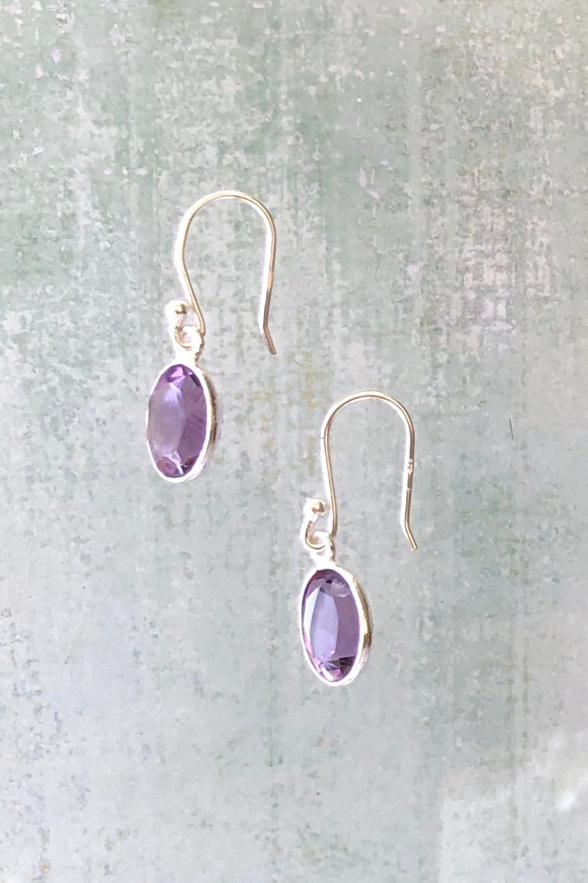 Oracle Earrings Mini Drop Amethyst