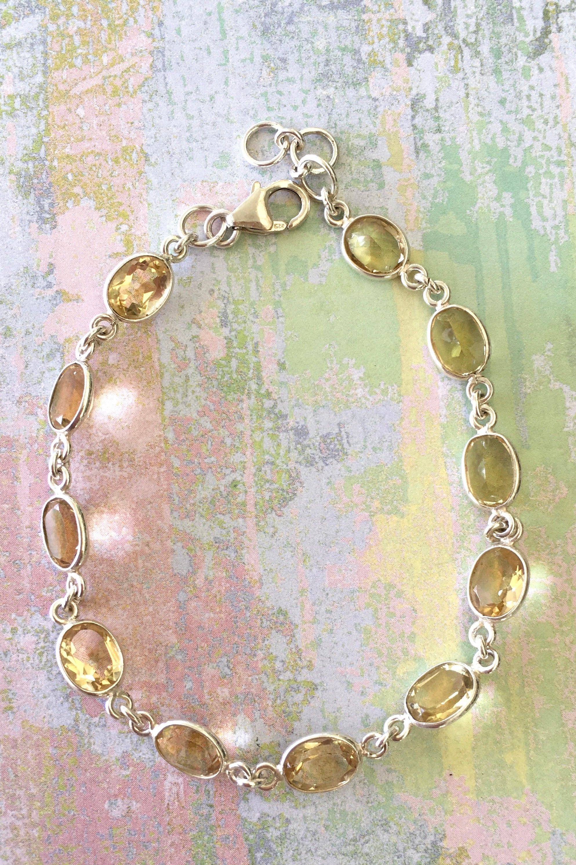 Oracle Citrine and Silver Bangle 1