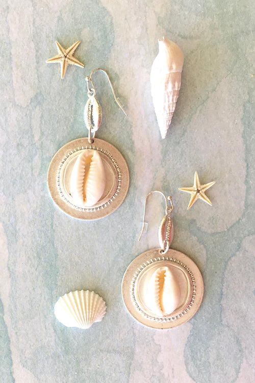 Earrings Seaside Shell Coin