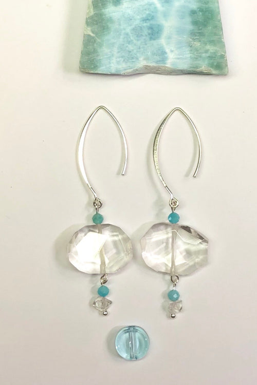 Earrings Serendipity Crystal Rock