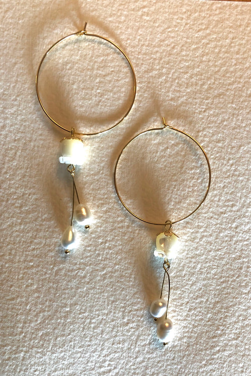 Earrings Pearly Hoop