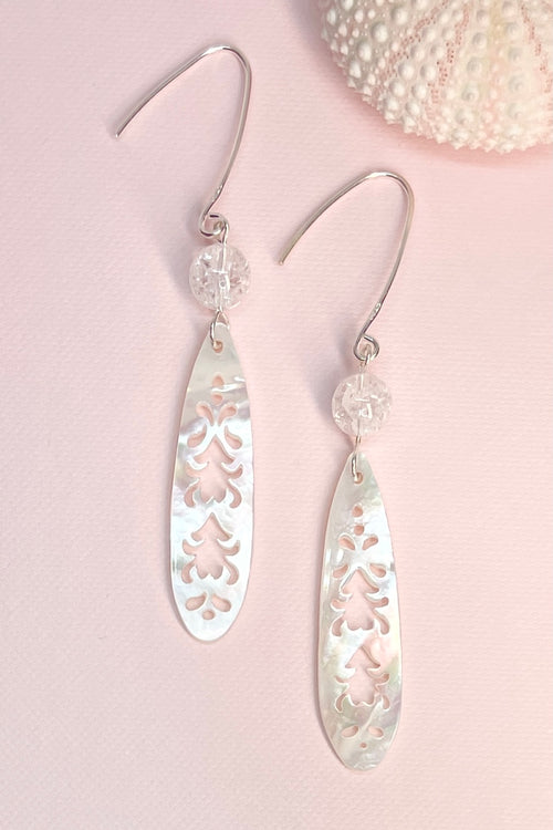 Earrings Cay Caribbean Lace Pearly Cream