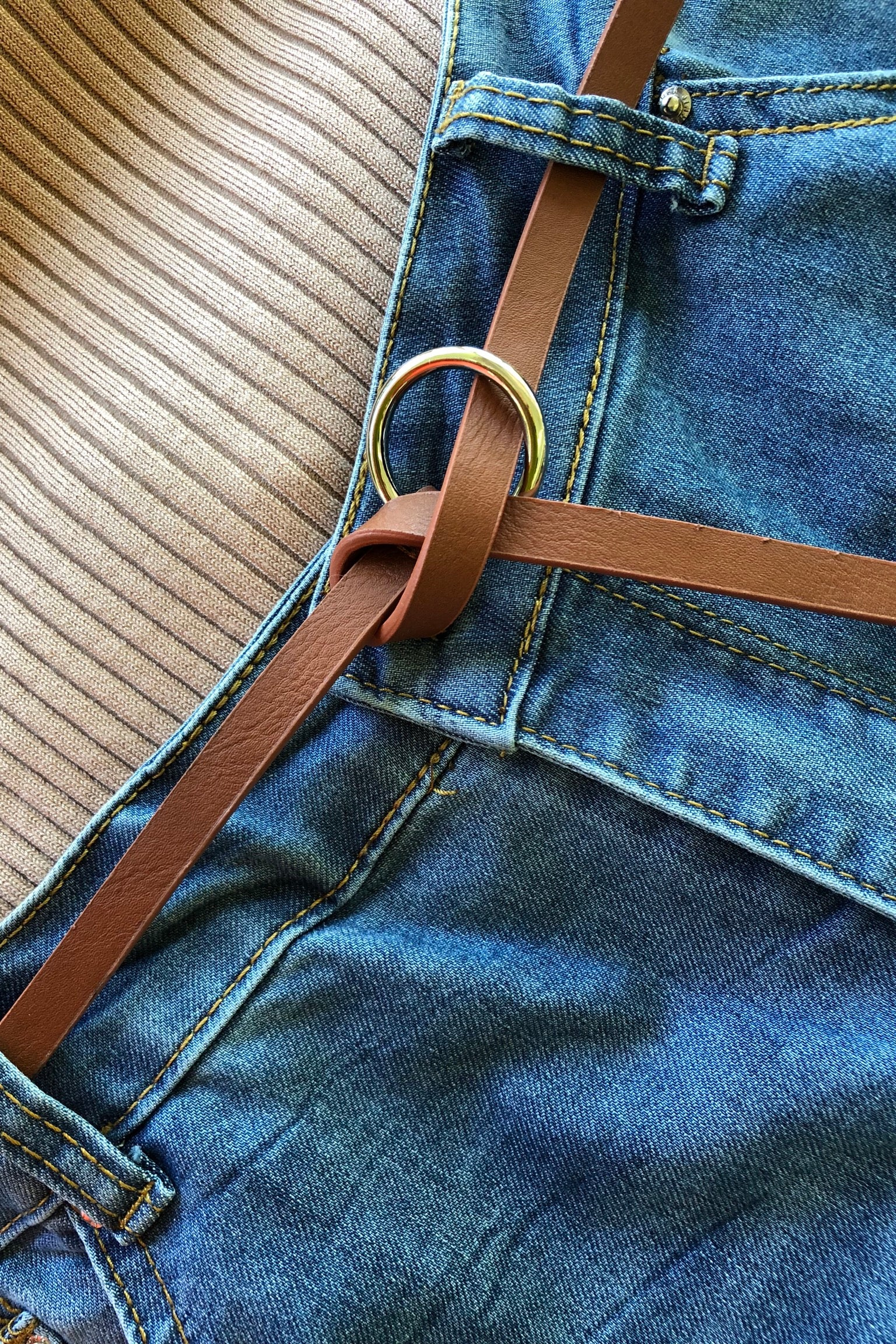 Belt The Ring Available in Tan