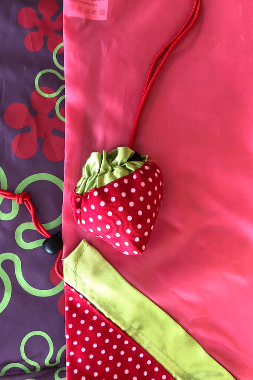 Eco Bag Strawberry for Market Shopping Pink