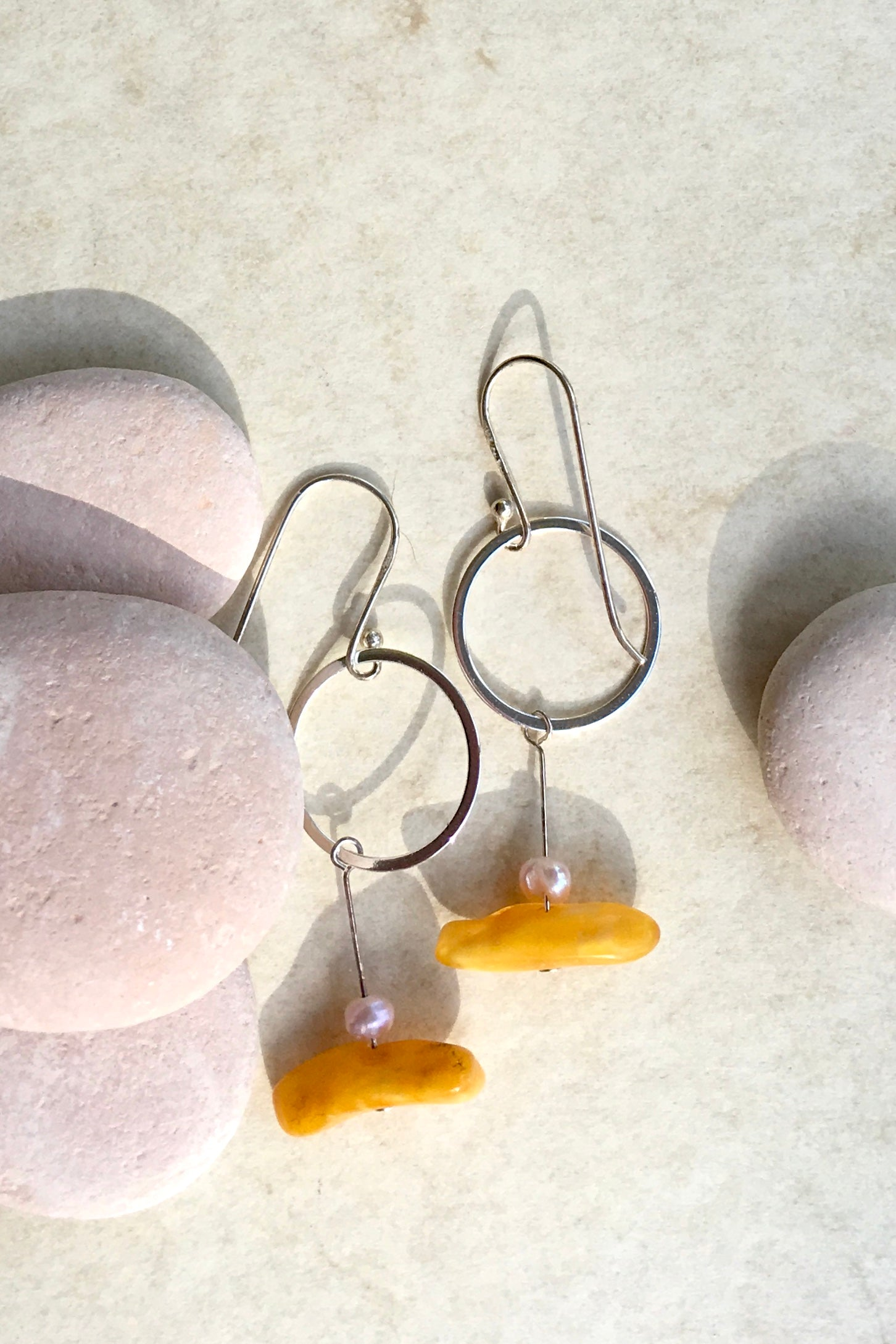 Earrings Samara Amber and Silver 3