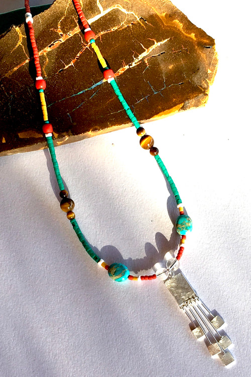 Necklace Cay Tribal Style Silver