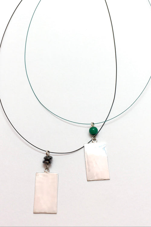 Echo Line Pendant Silverado and Malachite