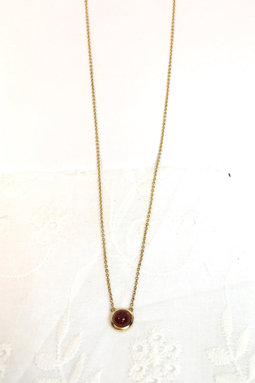 Vintage Pendant Garnet and Gold