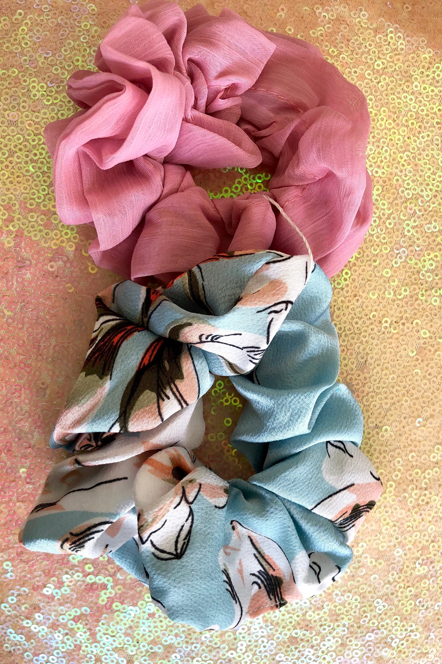 Scrunchie Set Summer Pinks set of 2