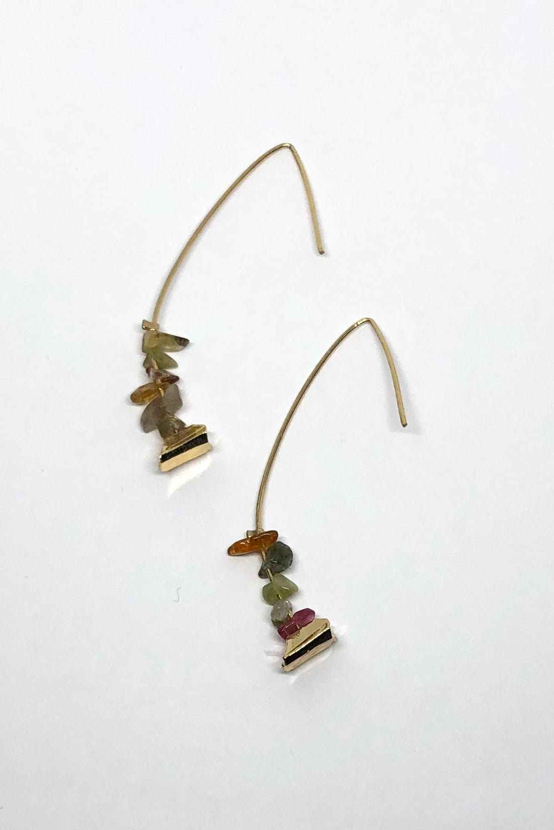 Earrings Meta Tourmaline Arc