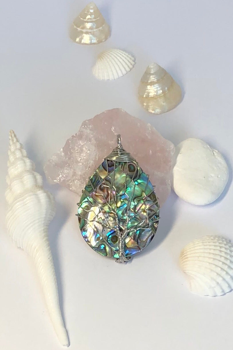 Pendant Tree of Life on Paua Shell