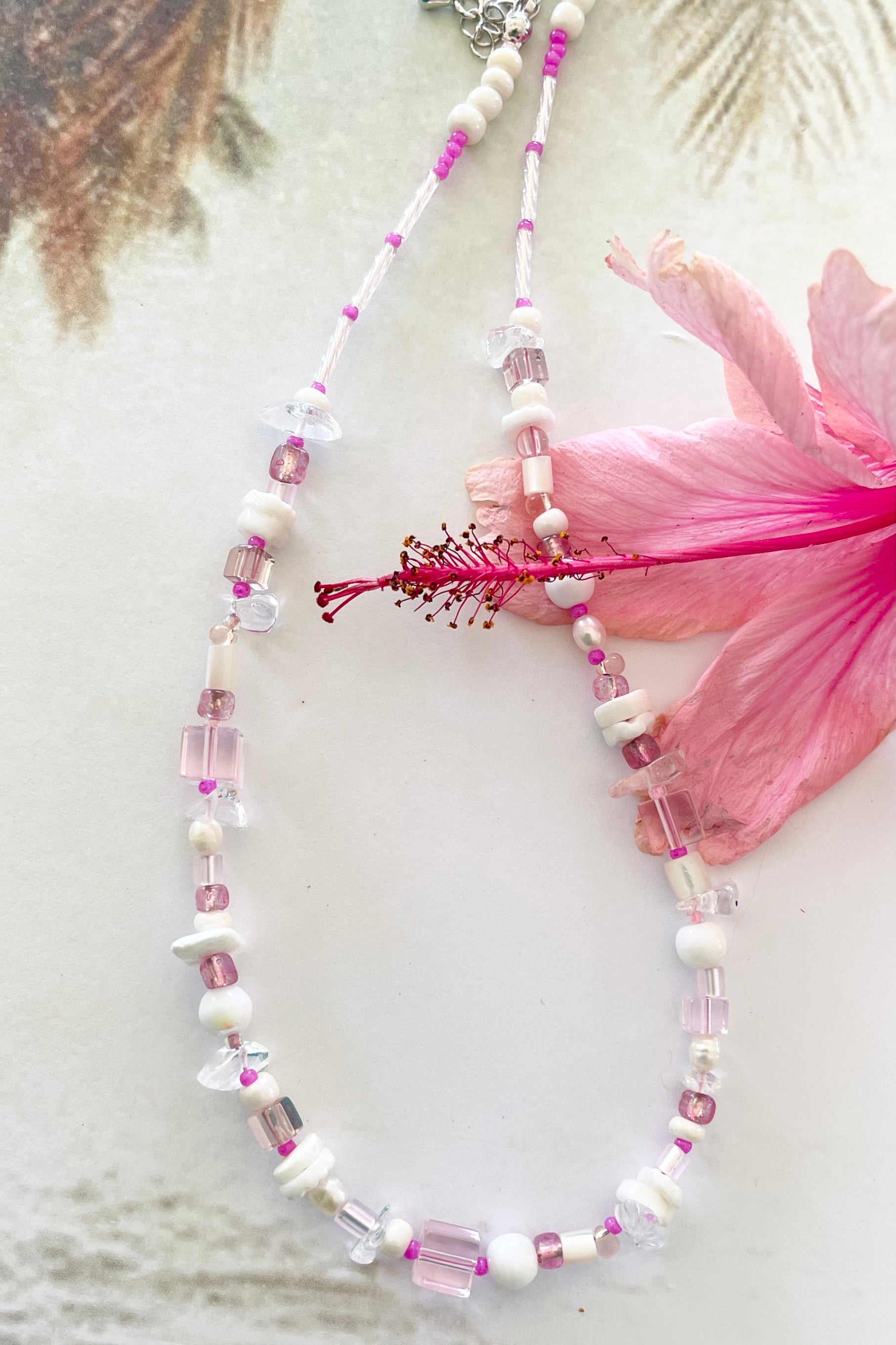 Necklace Cay Island Pink
