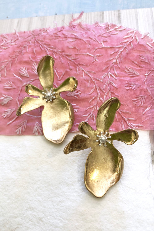 Earrings Dali Flower Golden