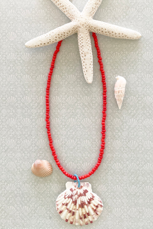 Necklace Summer Shell Very Red