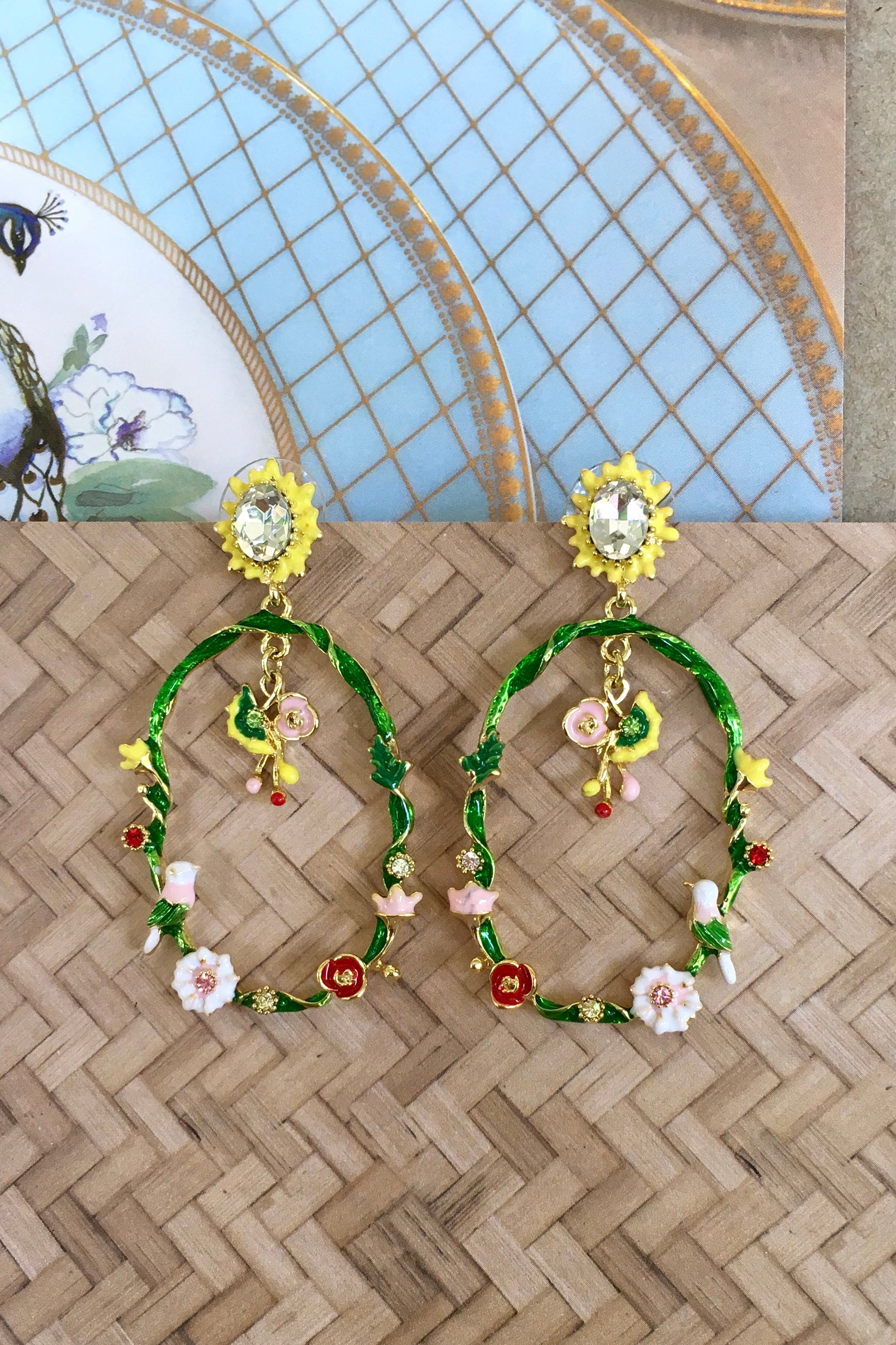 Earrings Secret Garden Garland Sun