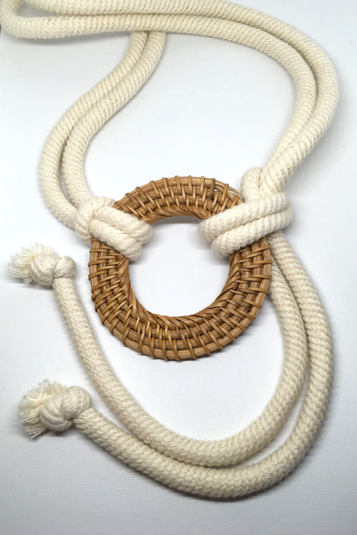 Belt Santorini Rope Large Rattan Buckle
