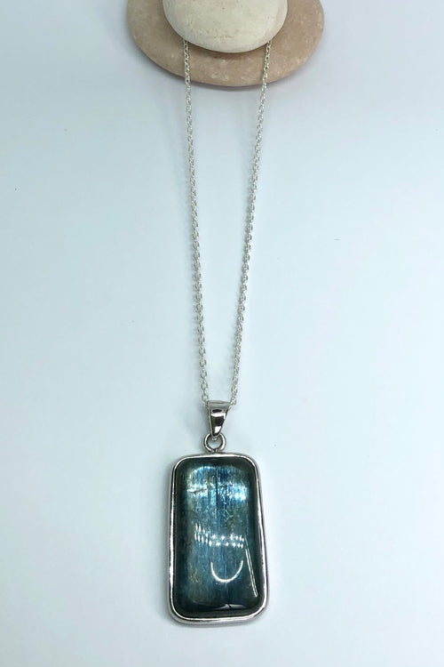 Pendant of Kyanite on a Silver Chain 10