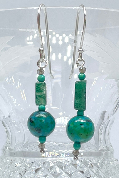 Earrings Serendipity Chrysocolla