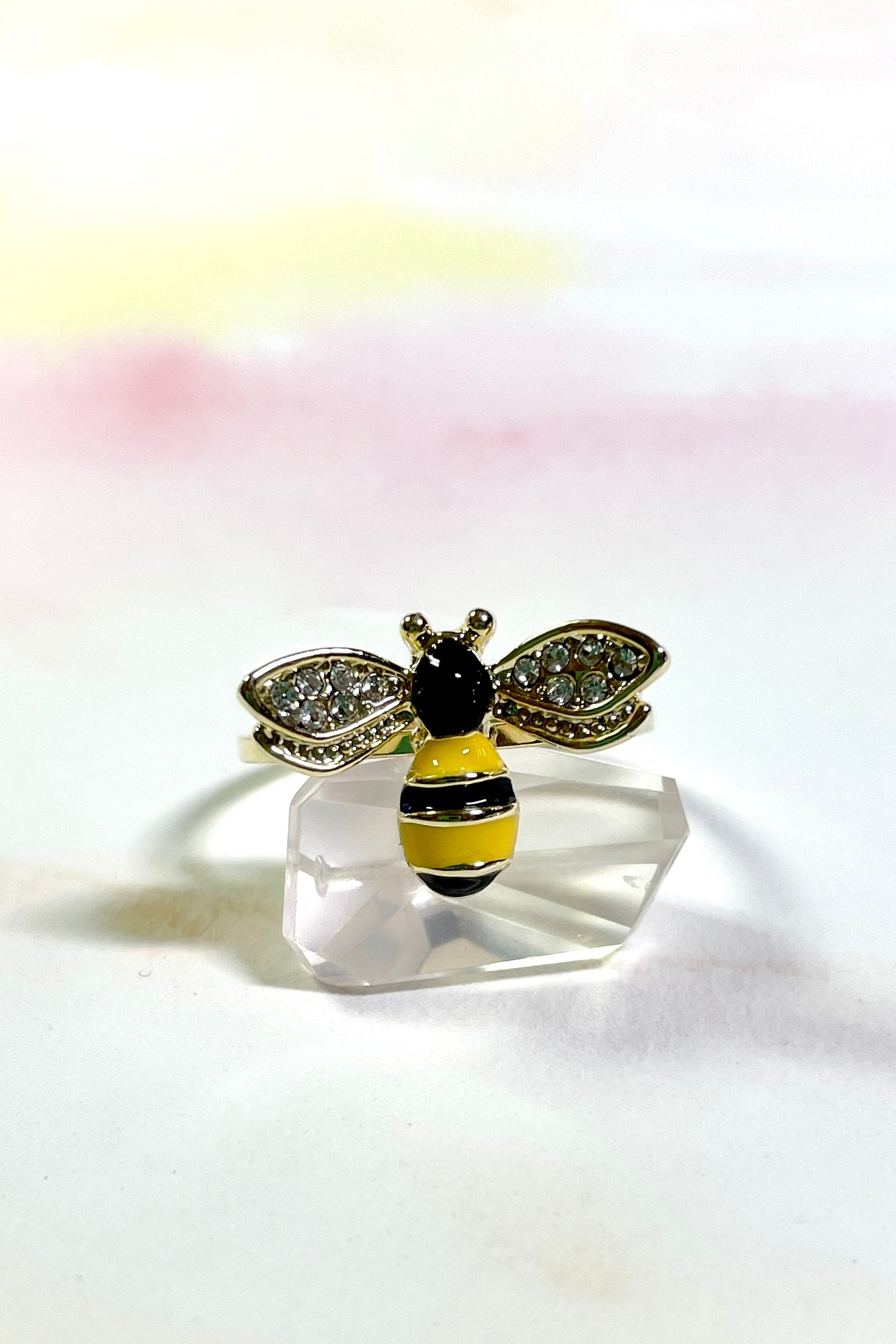 Do a happy little bee dance wearing this cutie.