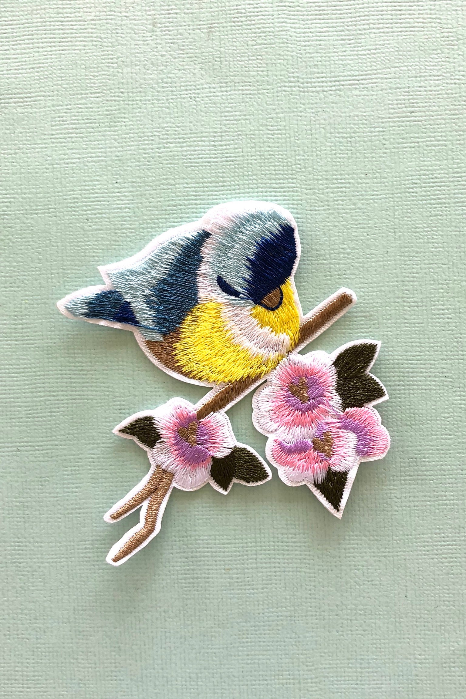 Iron on Motif Patch The Birds, cute bird patch for jeans