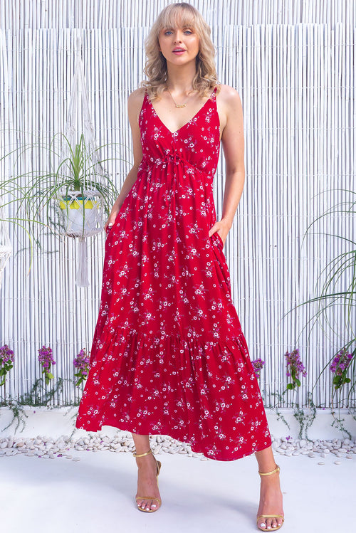 Adoro Cherry Red Maxi Dress