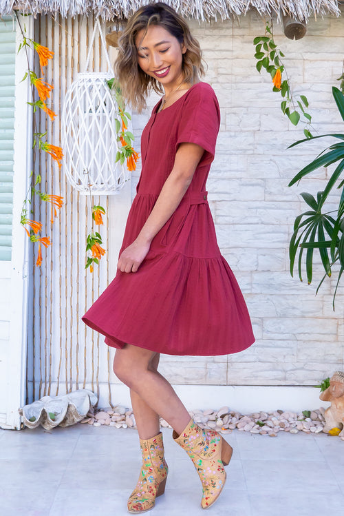 Airlie Berry Red Mini Dress