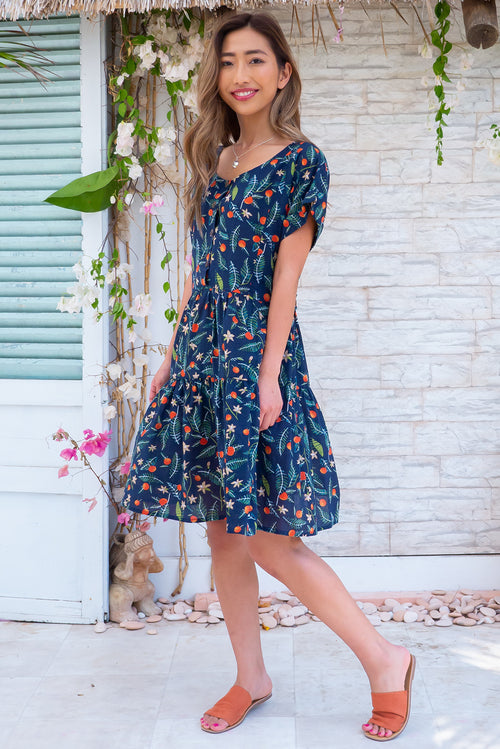 Airlie Orchard Navy Mini Dress