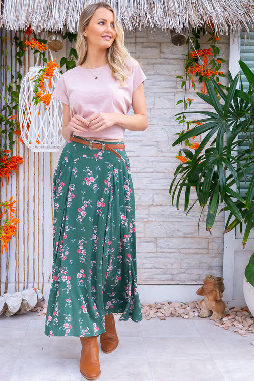 Atlantis Galway Green Maxi Skirt
