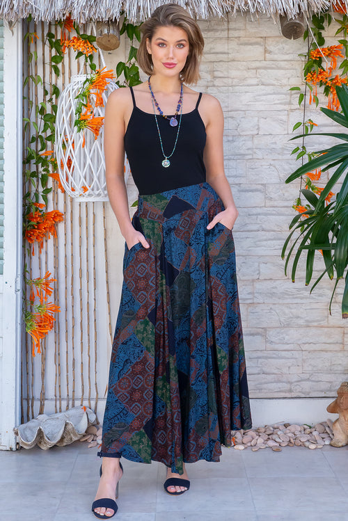 Atlantis Ink Jay Maxi Skirt