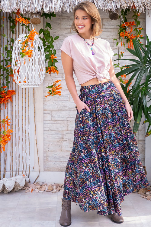 Atlantis Summerfield Navy Maxi Skirt